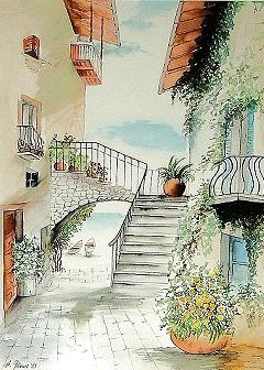 aquarelle und zeichnungen